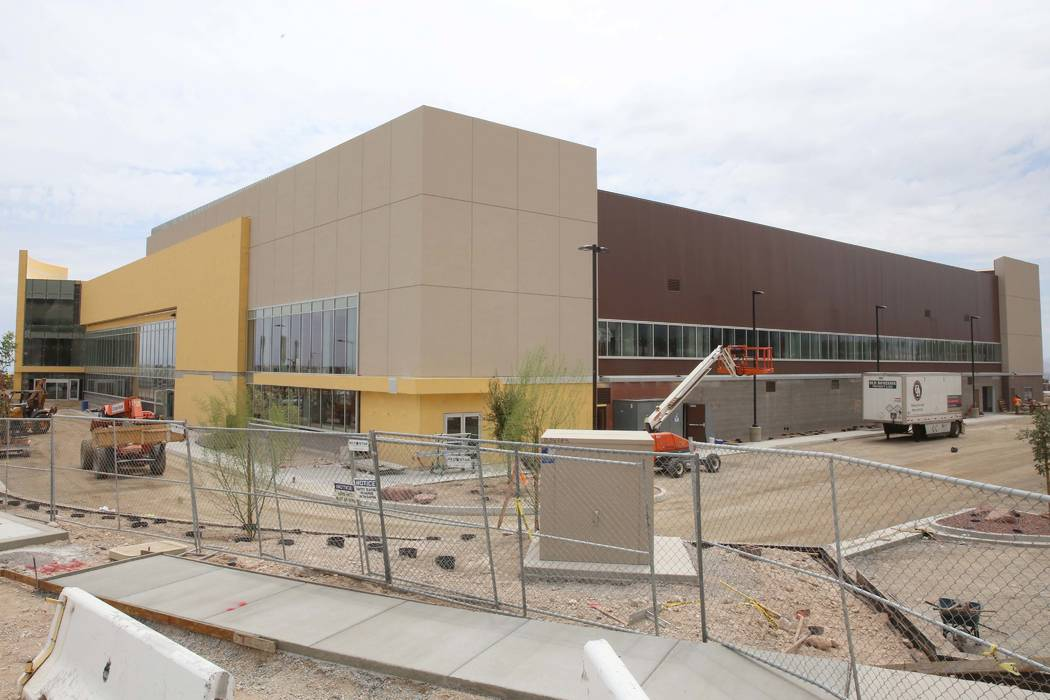 The Golden Knights' headquarters and practice facility on Pavilion Center Drive adjacent to Downtown Summerlin in Las Vegas on Monday, July 24, 2017. (Bizuayehu Tesfaye/Las Vegas Review-Journal) @ ...