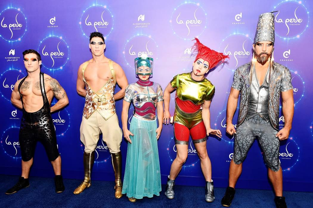 "Cast Members pose for photos during the world premiere of ""La Perle"" on Sept. 13 in Dubai, United Arab Emirates. (Cedric Ribeiro/Getty Images)"