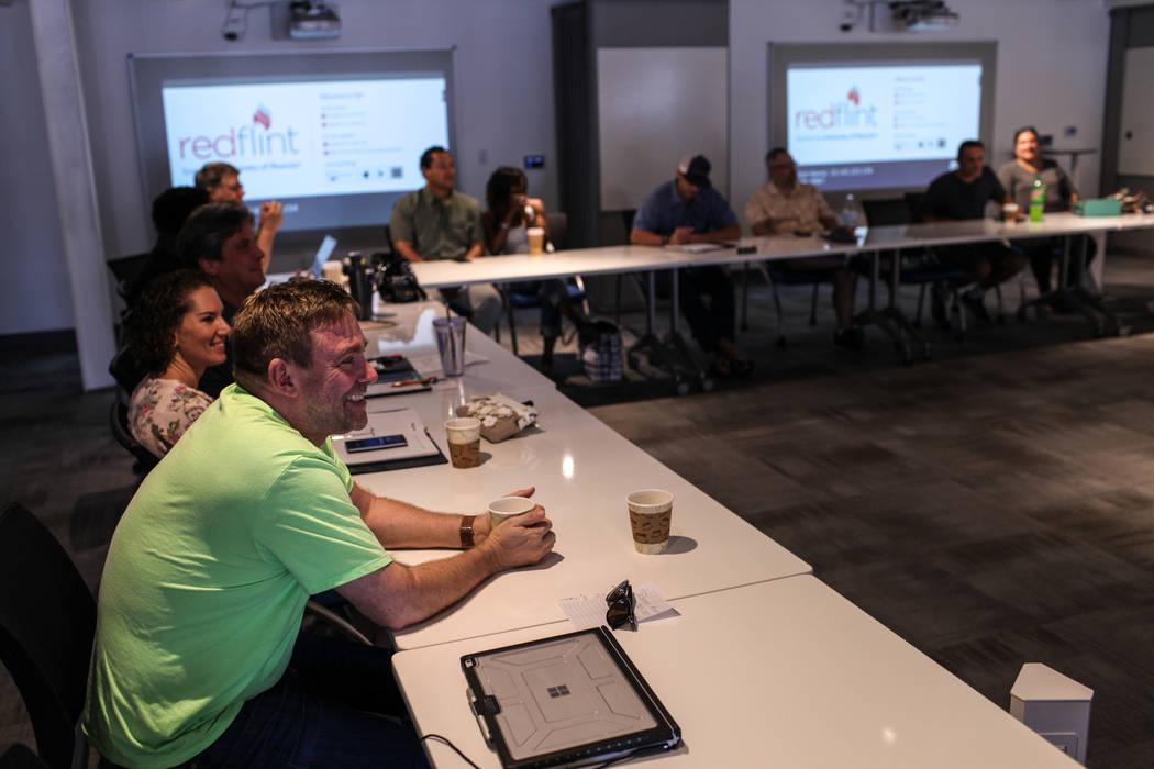 Robb Selander attends a business strategy workshop at the RedFlint experience center in Las Vegas, Saturday, Sept. 16, 2017. Joel Angel Juarez Las Vegas Review-Journal @jajuarezphoto