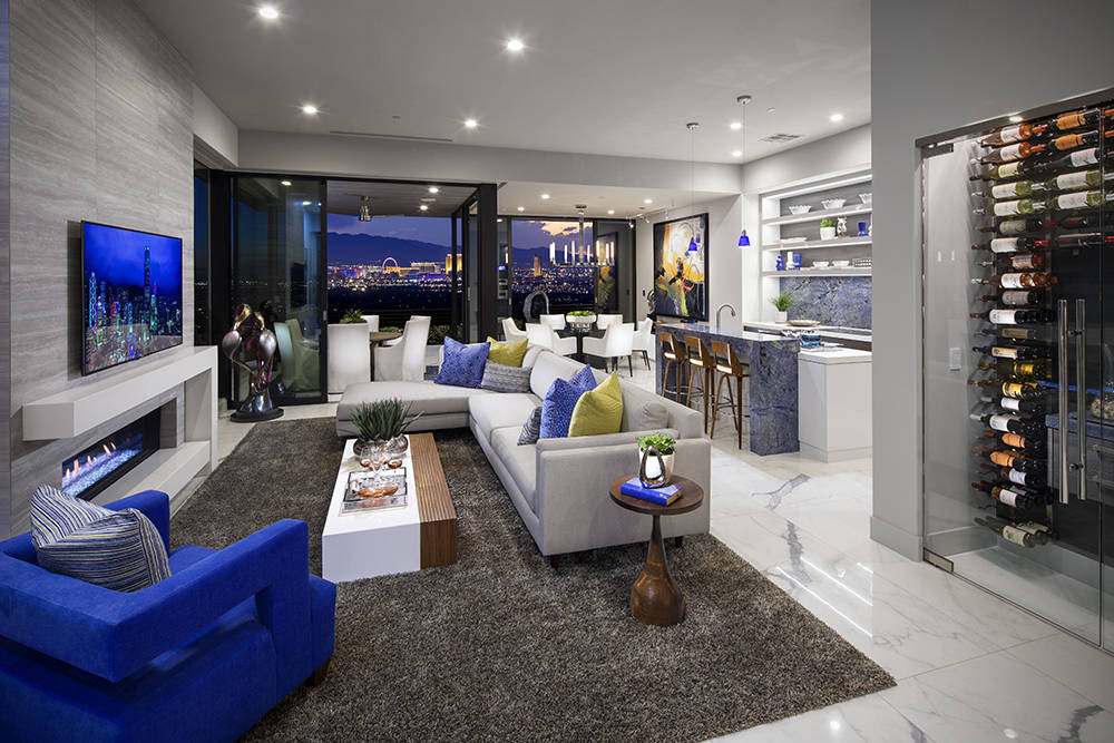 Vu, a luxury townhome project in MacDonald Highlands, have views of the Las Vegas Strip. (Christopher Homes)