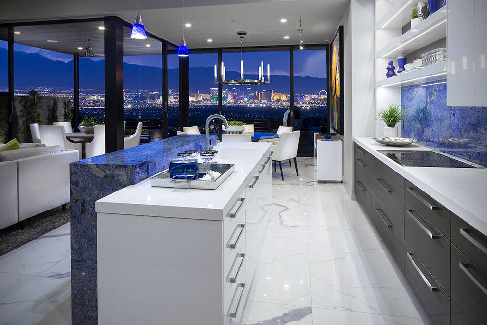 Christopher Homes  The model kitchens in the new Vu luxury townhomes have a modern design.