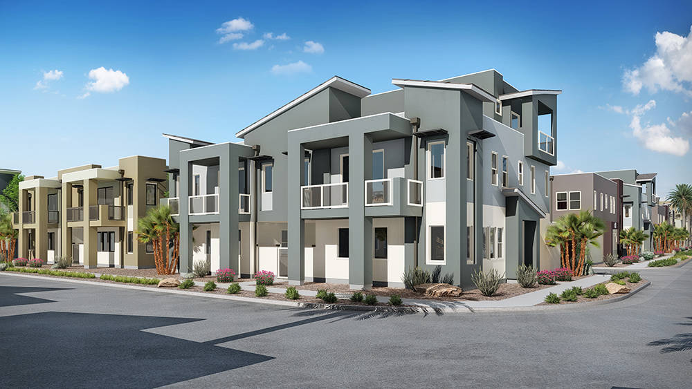William Lyon Homes is one of the several builders creating attached homes in Summerlin. This wave of condos and townhomes construction is the first in over a decade. (William Lyon Homes)