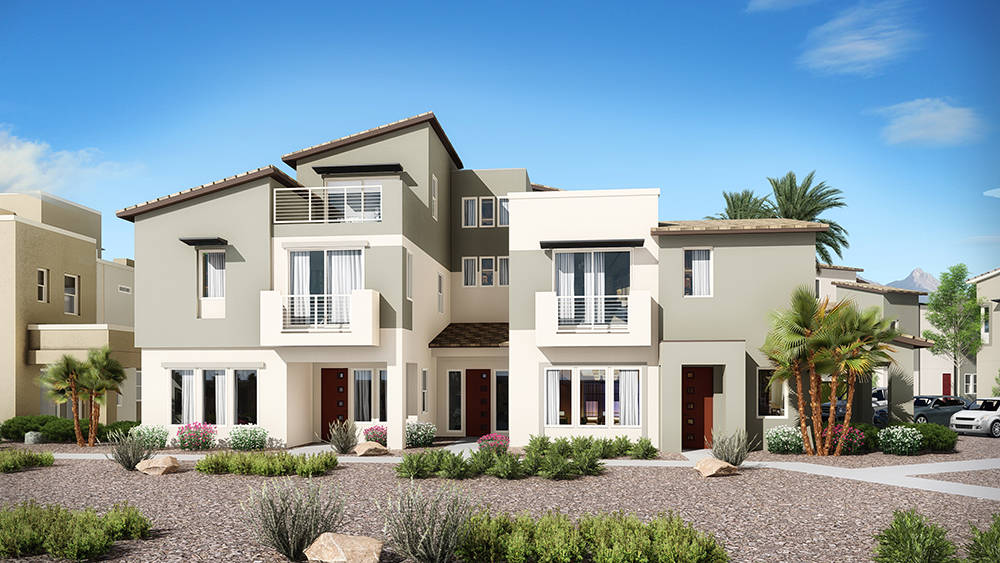 Many empty-nesters seeking a lock-and-leave lifestyle is driving the luxury townhome building in Summerlin. (William Lyon Homes)