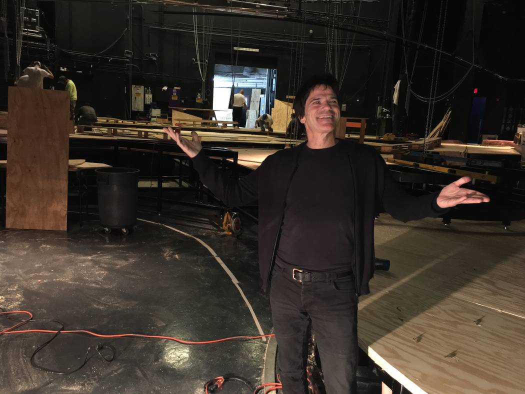 """WOW"" show director Hanoch Rosenn is shown at the production's showroom at the Rio on Sept. 1, 2017. (John Katsilometes)"