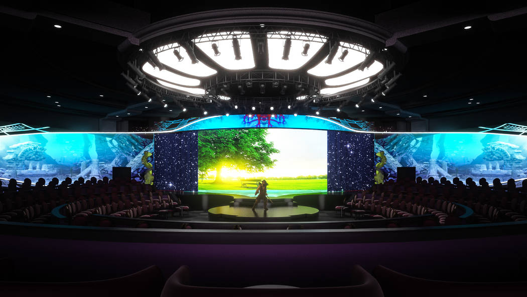 """A rendering of the staging of """"WOW"""" at the Rio. The show opens Sept. 26 (Wow Show Vegas)"""