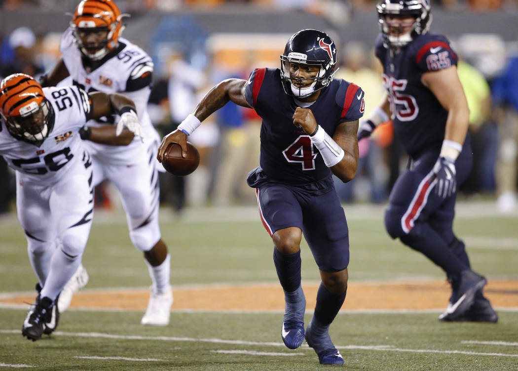 200ce635 Deshaun Watson leads Texans over Bengals | Las Vegas Review-Journal