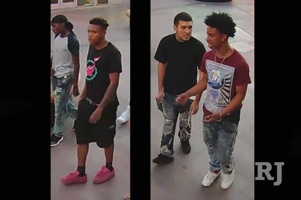 Las Vegas police are looking for several suspects in a violent robbery in August near the Las Vegas Strip. (Las Vegas Metropolitan Police Department)