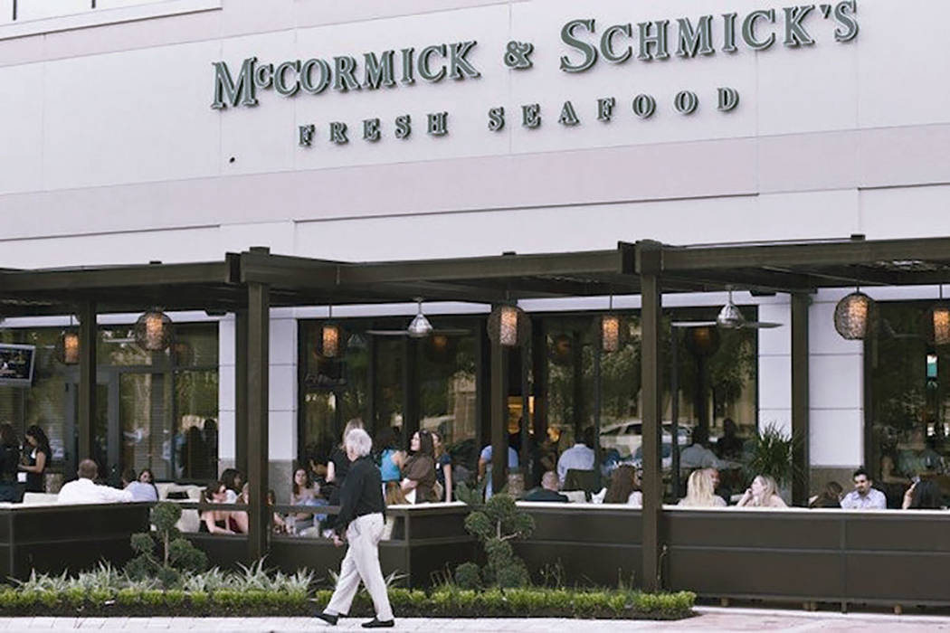 A McCormick & Schmick's location is shown (McCormick & Schmick's Facebook)