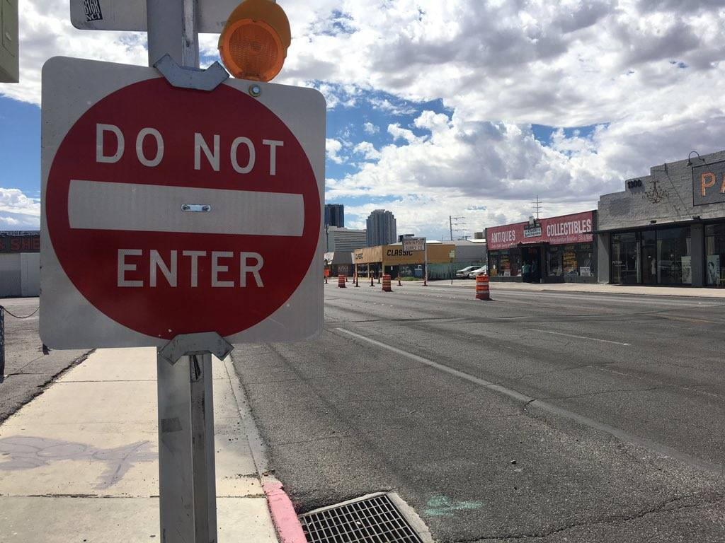Signs like this were put into place when Main and Commerce Streets permanently became one-way in early September. (Diego Mendoza-Moyers/View) @dmendozamoyers