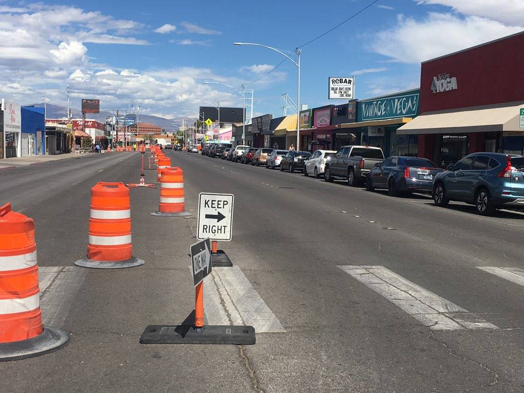 One-way traffic along Main is directed to the right as construction has begun on the west side of the street. This has created problems for shops, business owners said, because parking is limited  ...