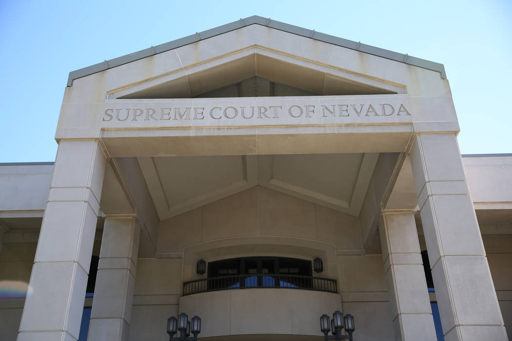 The Nevada Supreme Court building is pictured in Carson City (David Guzman/Las Vegas Review-Journal)