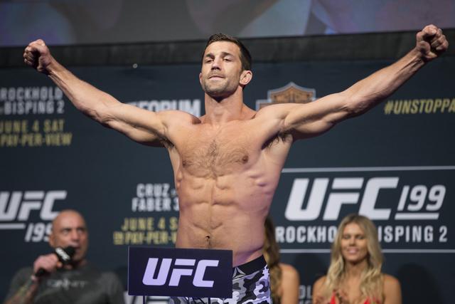Luke Rockhold poses during a weigh-in at The Forum on Friday, June 3, 2016, in Inglewood, Calif. Erik Verduzco/Las Vegas Review-Journal Follow @Erik_Verduzco