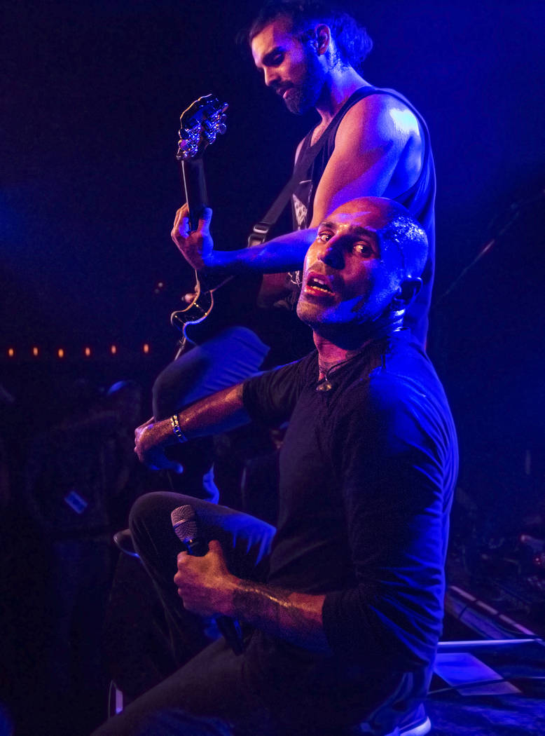 Otherwise frontman Adrian Patrick, right/front, performs with guitarist Ryan Patrick on Friday, September 15, 2017, at the Hard Rock hotel-casino,  in Las Vegas. Benjamin Hager Las Vegas Review-Jo ...