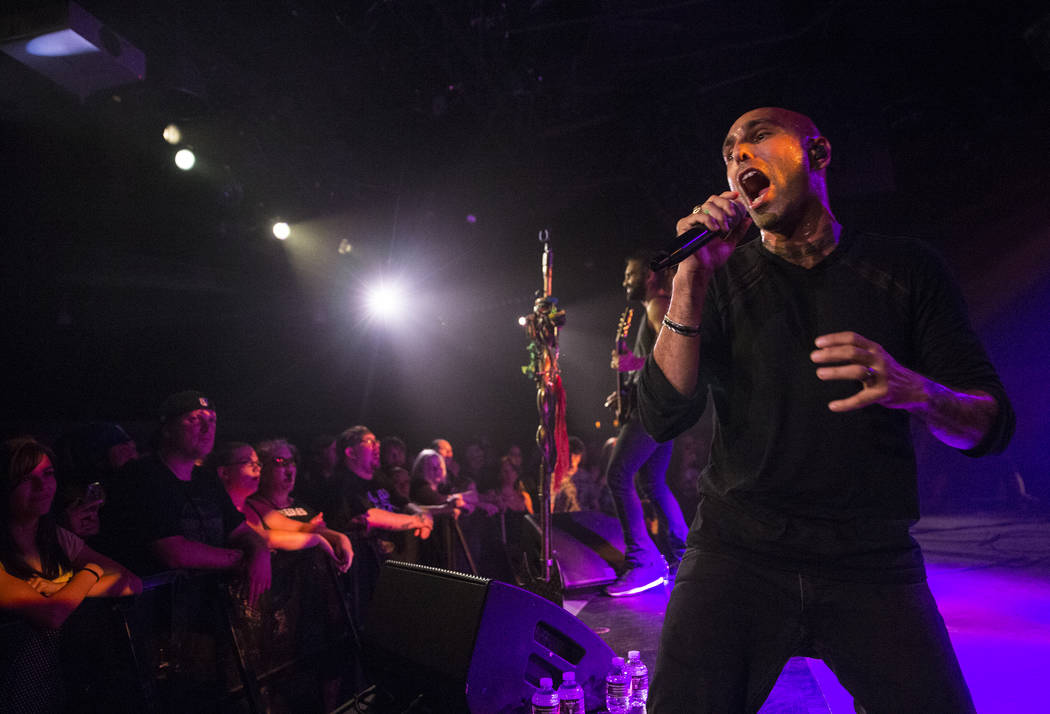 Otherwise frontman Adrian Patrick performs on Friday, September 15, 2017, at the Hard Rock hotel-casino, in Las Vegas. Benjamin Hager Las Vegas Review-Journal @benjaminhphoto