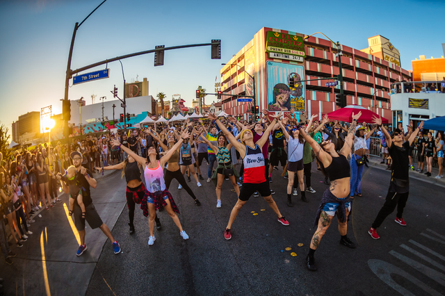 A flash mob on Day 3 of the 2016 Life Is Beautiful Music and Art Festival on Sunday, Sept. 25, 2016, in Downtown Las Vegas. (2016 Life Is Beautiful)