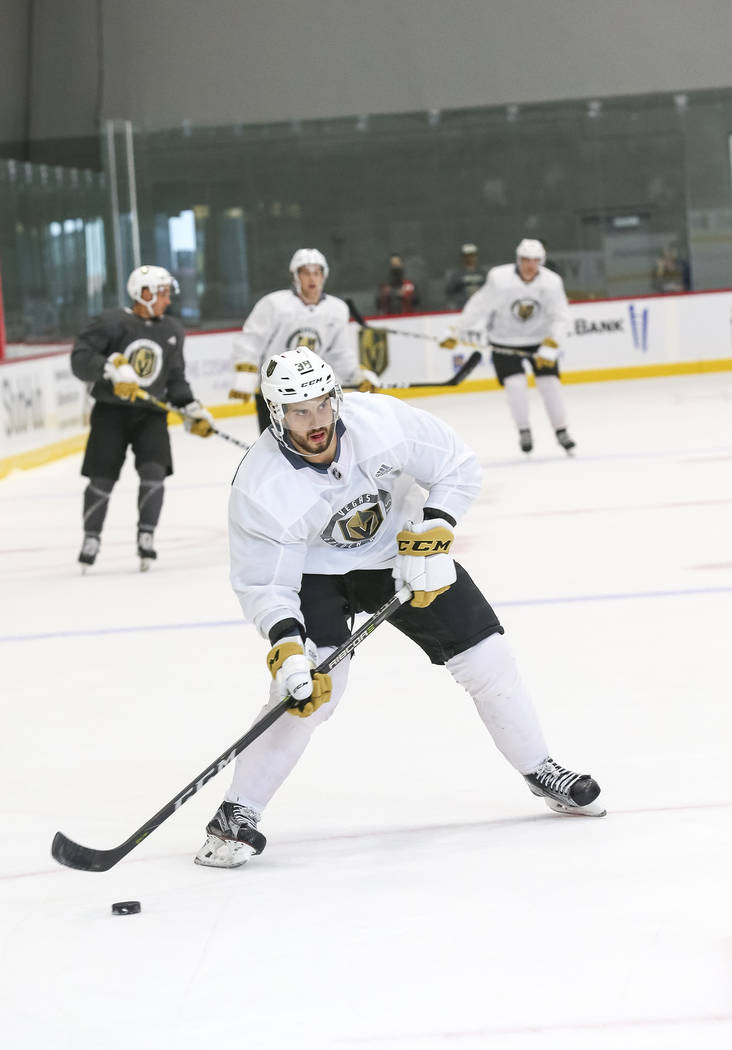 Vegas Golden Knights' Tomas Hyka on the ice during team practice at the City National Arena on Friday, Sept. 15, 2017, in Las Vegas. Richard Brian Las Vegas Review-Journal @vegasphotograph