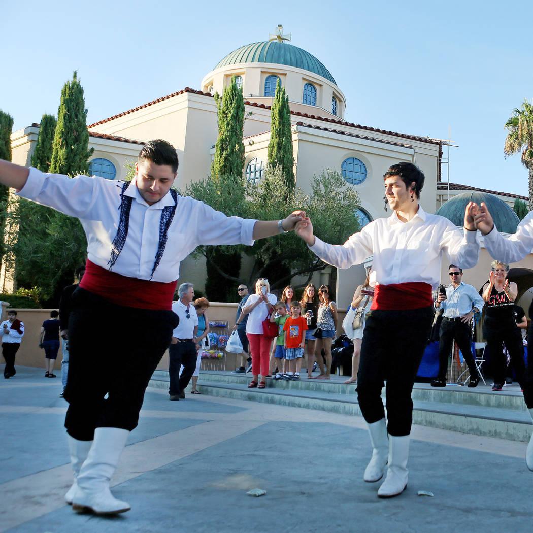 Greek Pride Dancers perform during the 45th annual Greek Food Fest at St. John the Baptist Greek Orthodox Church in Las Vegas, Sunday, Sept. 17, 2017. Elizabeth Brumley Las Vegas Review-Journal