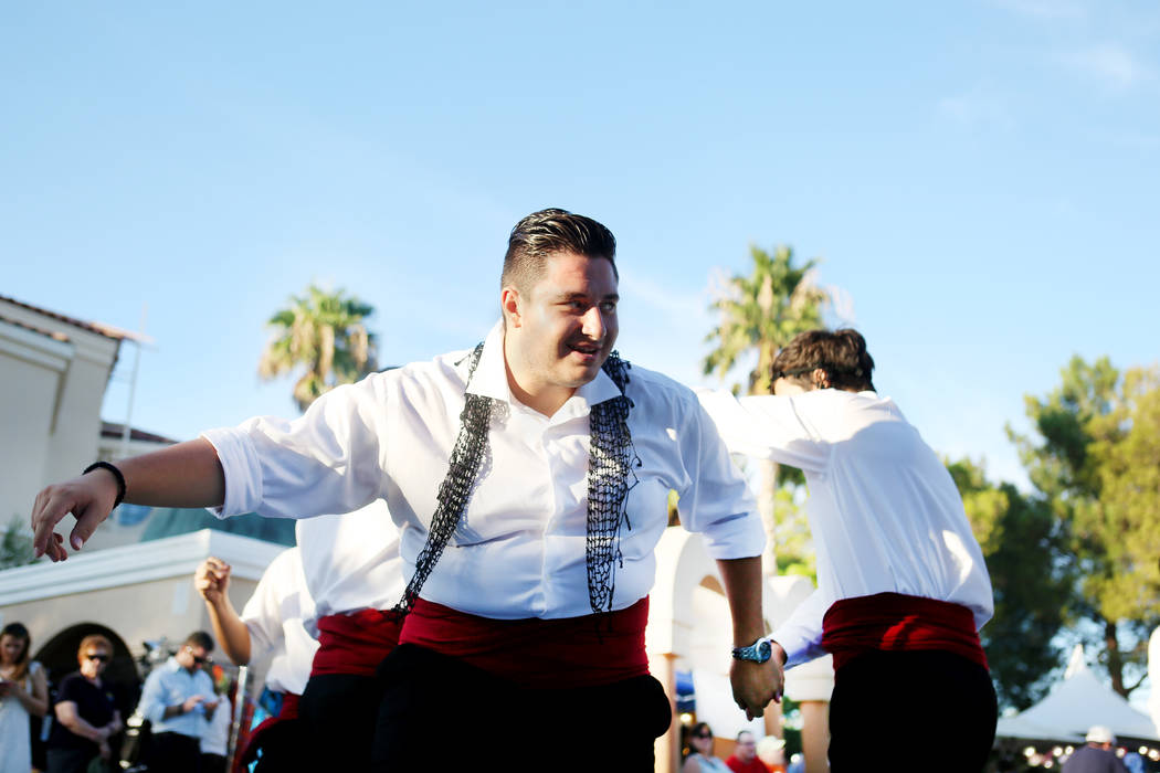 Greek Pride dancer Nikolas Pouridis performs during the 45th annual Greek Food Fest at St. John the Baptist Greek Orthodox Church in Las Vegas, Sunday, Sept. 17, 2017. Elizabeth Brumley Las Vegas  ...