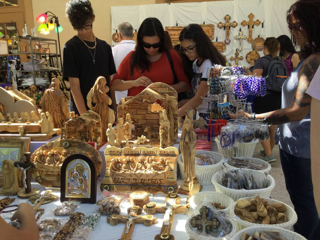 People shop during the 45th annual Greek Food Fest in Las Vegas, Sunday, Sept. 17, 207. Sandy Lopez Las Vegas Review-Journal