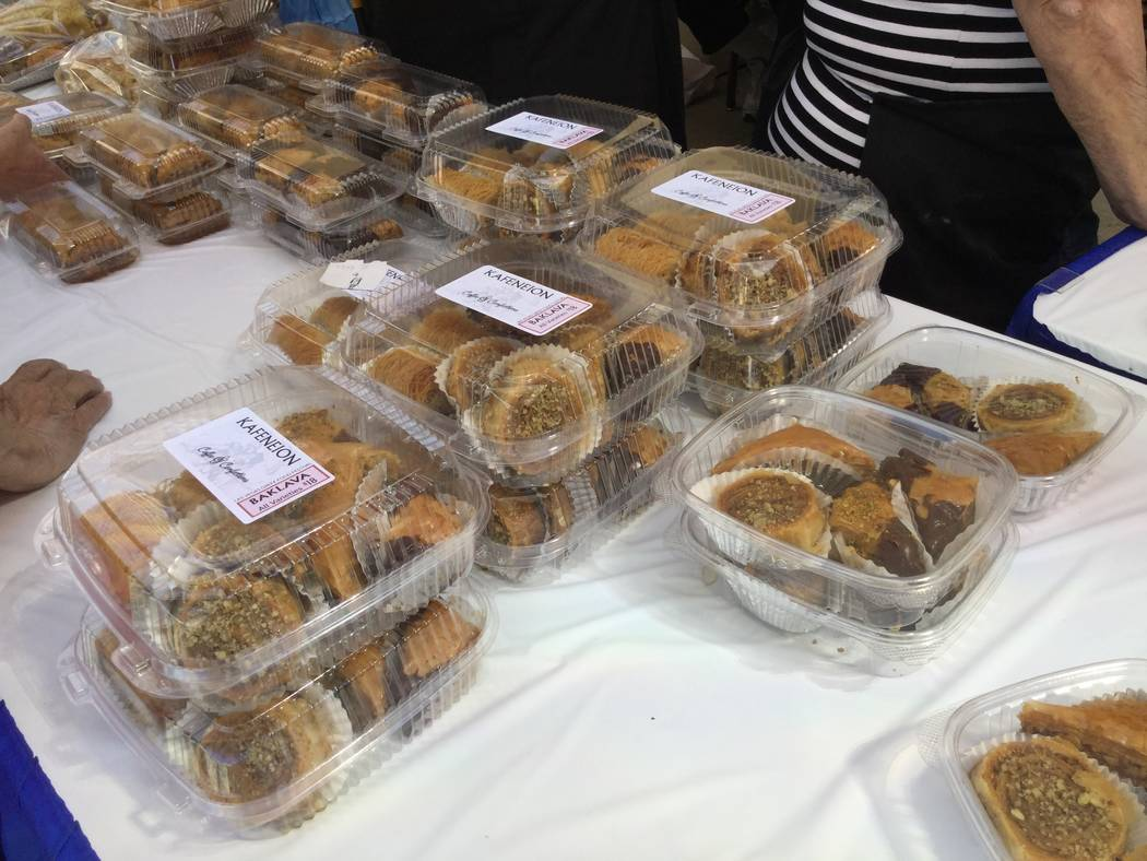 Greek sweets are sold during the 45th annual Greek Food Fest in Las Vegas, Sunday, Sept. 17, 207. Sandy Lopez Las Vegas Review-Journal