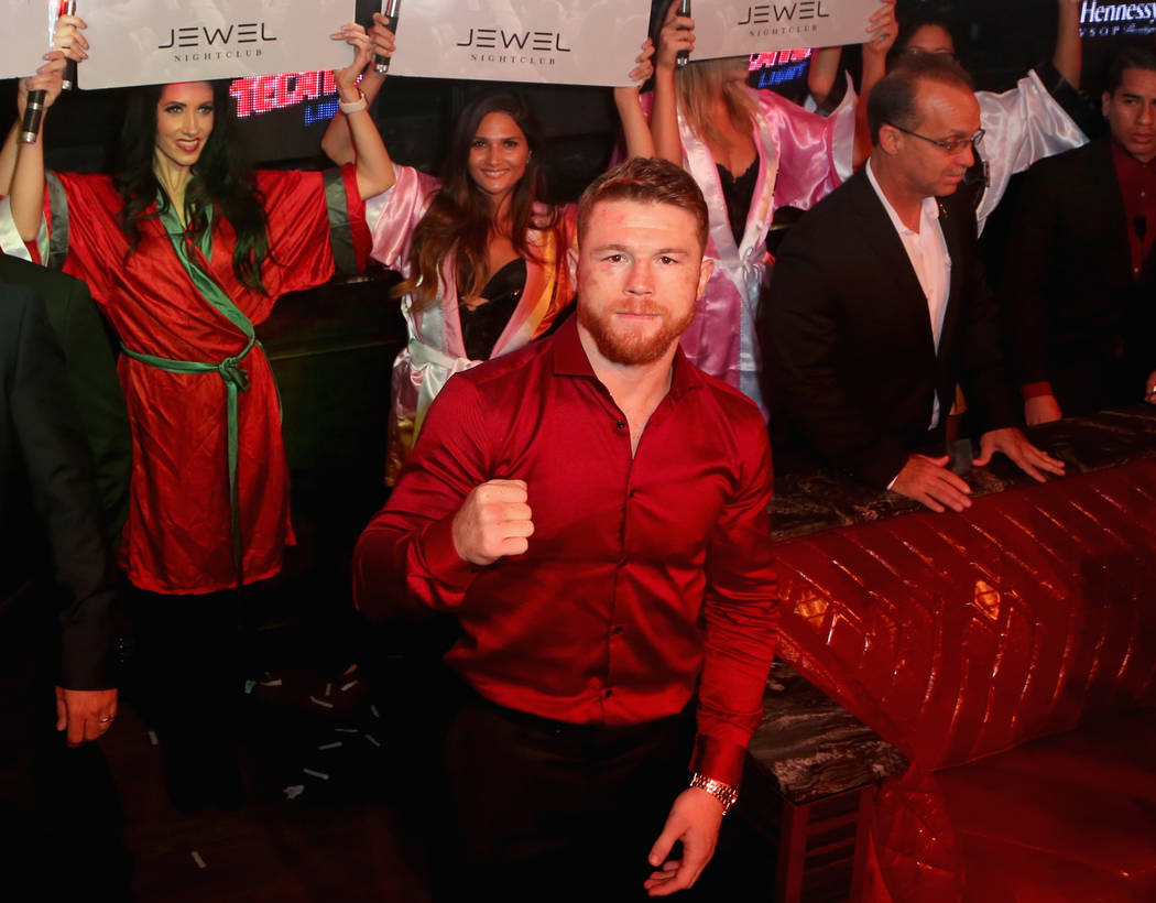 "Boxer Saul ""Canelo"" Alvarez hosts an official after-party at Jewel Nightclub at the Aria Resort & Casino on September 16, 2017 in Las Vegas, Nevada.  (Gabe Ginsberg/Getty Images for Jewel Nigh ..."