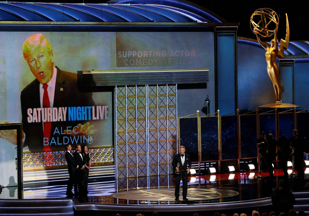 "69th Primetime Emmy Awards – Show – Los Angeles, California, U.S., 17/09/2017 - Alec Baldwin accepts the award for Outstanding Supporting Actor in a Comedy Series for ""Satur ..."