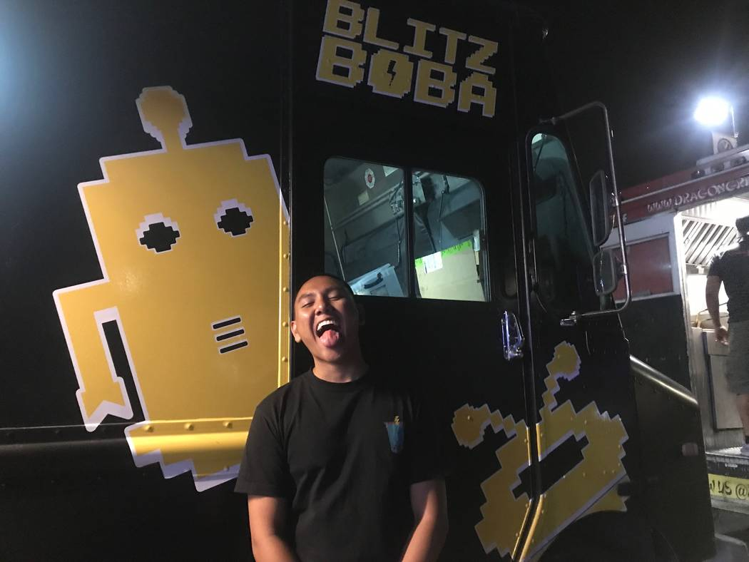 Blitz Boba owner Randall Kapuno, 24, poses for portrait at food truck event on Sept. 17, 2017 at Findlay, 7500 W. Azure Drive. (Kailyn Brown/View) @KailynHype
