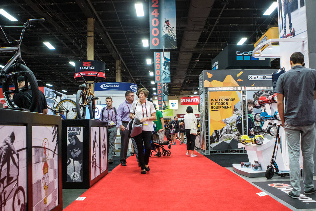 Hall C of the Interbike International Expo at Mandalay Bay Convention Center on Wednesday, Sep. 20, 2017, in Las Vegas. Morgan Lieberman Las Vegas Review-Journal