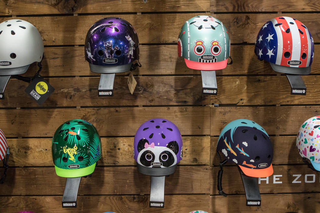 Nutcase Helmets on display at Interbike International Expo at Mandalay Bay Convention Center on Wednesday, Sep. 20, 2017, in Las Vegas. Morgan Lieberman Las Vegas Review-Journal