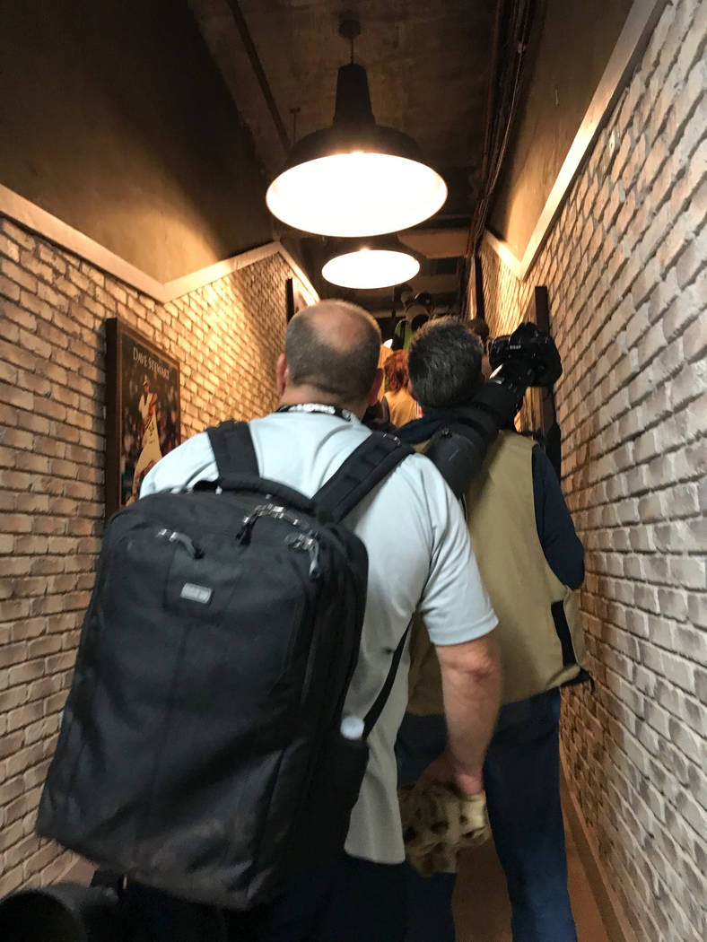 A hallway inside the Oakland-Alameda County Coliseum that leads from the stadium's field to the locker rooms, Saturday, Aug. 19, 2017. Heidi Fang Las Vegas Review-Journal @HeidiFang