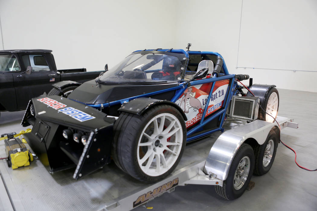 Super System's Lab Rat, a prototype that's been through immense testing, at Supercar System in North Las Vegas, Wednesday, Sept. 20, 2017. Elizabeth Brumley Las Vegas Review-Journal