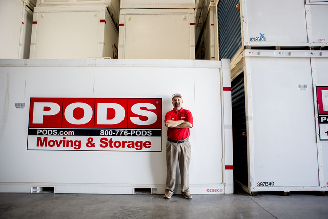 Michael Smith, the new vice president of moving operations for QuarterMoore, a PODS operator in Las Vegas, in the PODS warehouse Wednesday, Aug. 24, 2016. Elizabeth Page Brumley Las Vegas Review-J ...