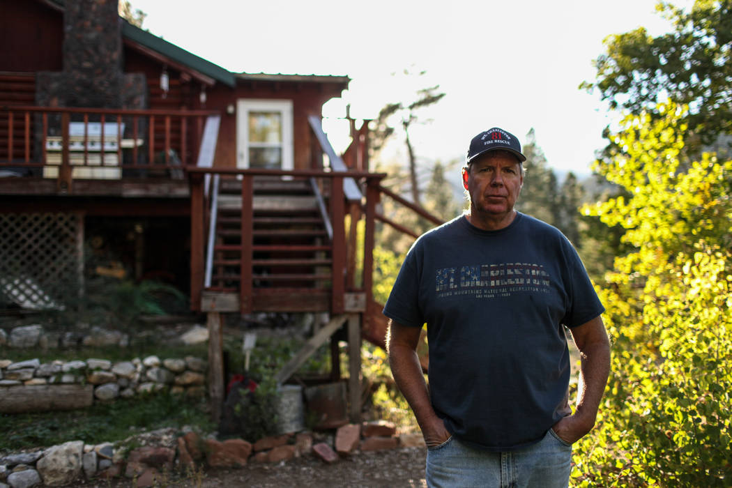 Dennis Lovell, chairman of the Mt. Charleston Town Advisory Board, outside his home at the Rainbow Division in Mount Charleston, Monday, Sept. 18, 2017. Joel Angel Juarez Las Vegas Review-Journal  ...