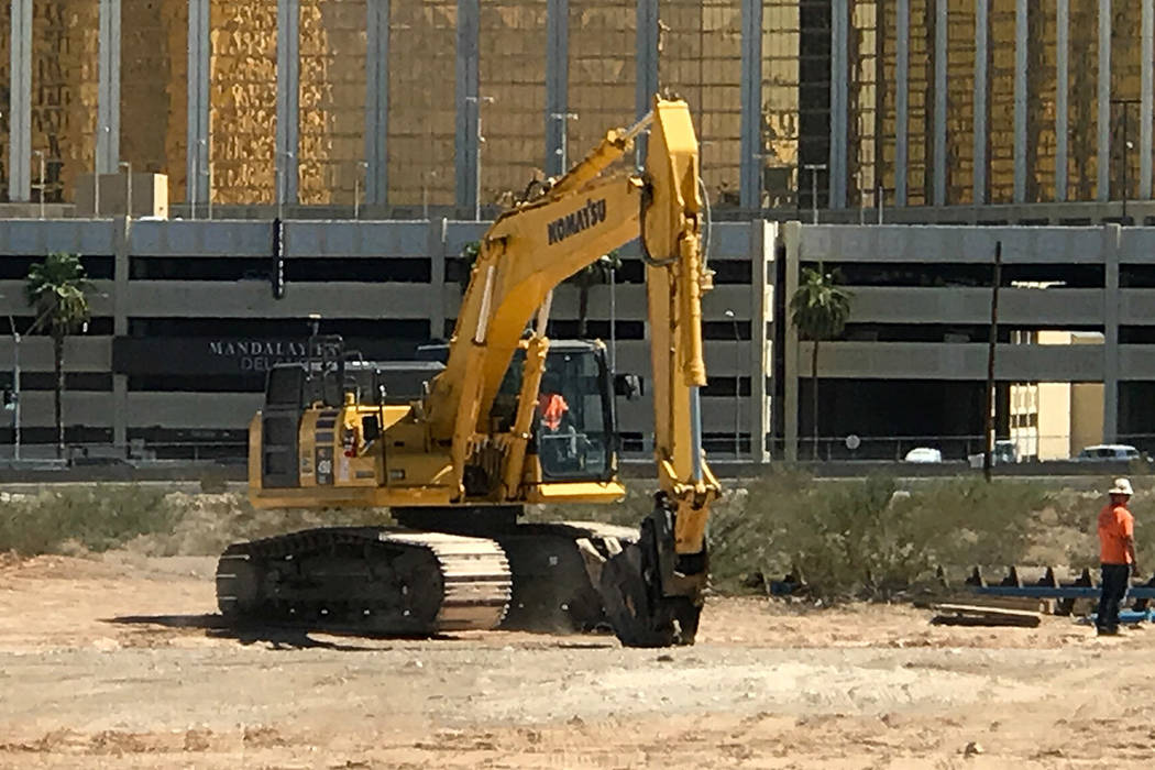 Construction activity is seen Monday, Sept. 18, 2017, at the site of Raiders Stadium in Las Vegas. Jim Prather/ Las Vegas Review-Journal