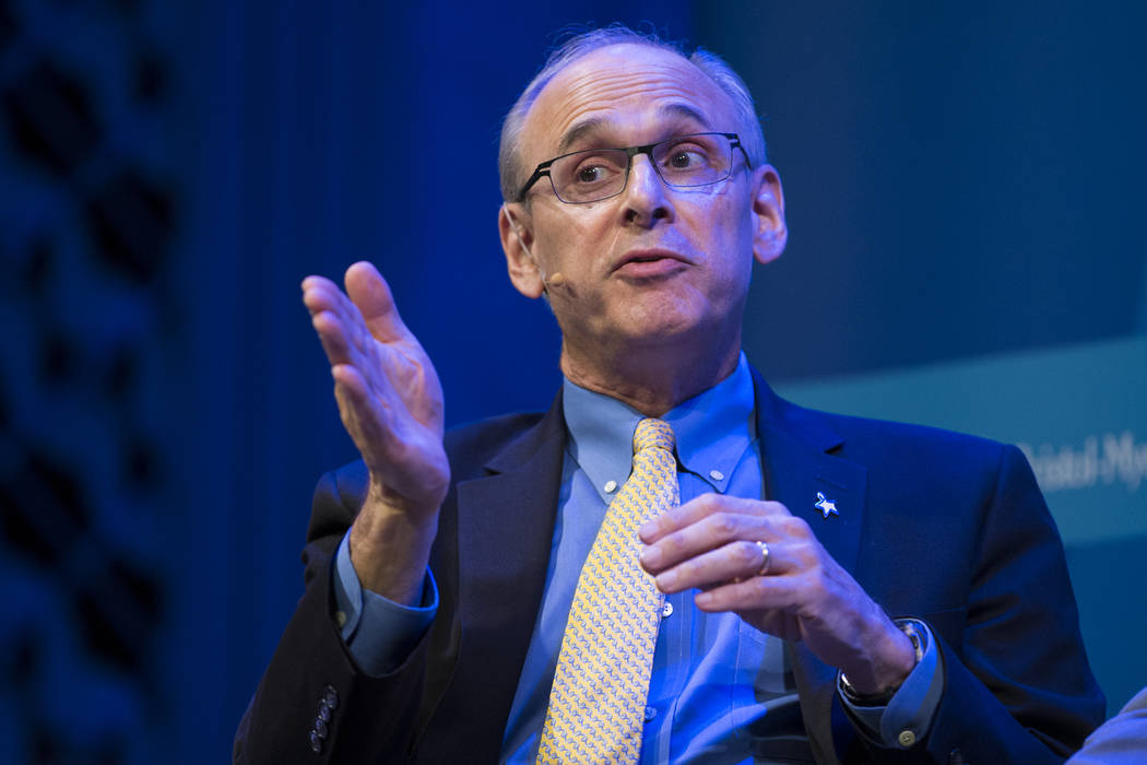 Richard Wender, chief cancer control officer for the American Cancer Society, during The Atlantic Cancer and the Community conference at the Cabaret Jazz at The Smith Center in Las Vegas, Wednesda ...