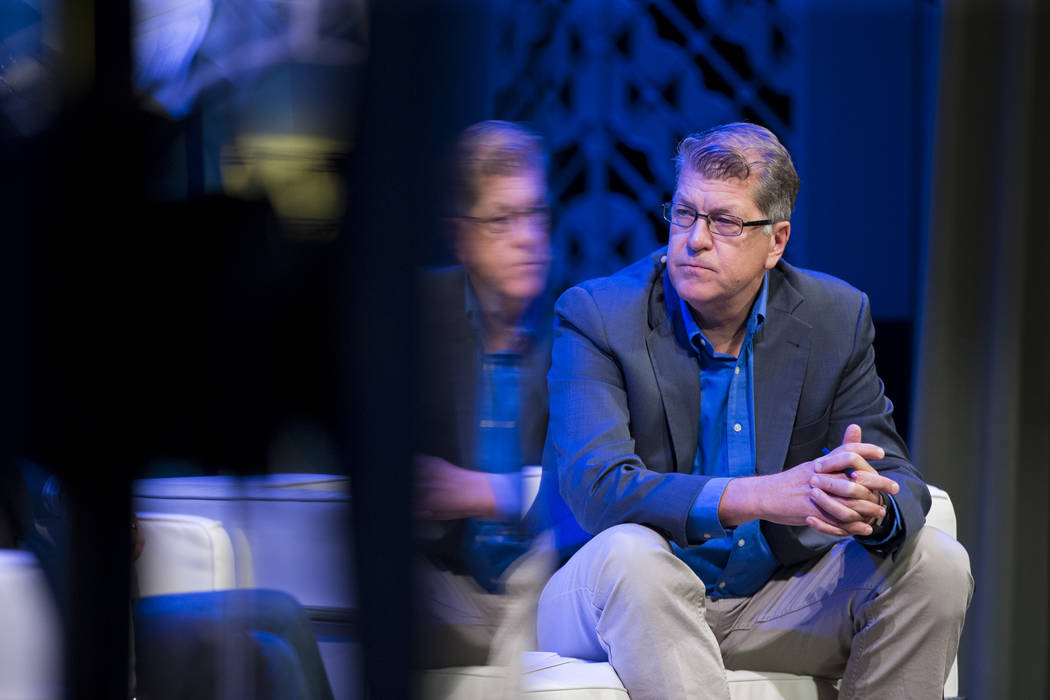 Steve Clemons, Washington Editor-At-Large at the The Atlantic, during The Atlantic Cancer and the Community conference at the Cabaret Jazz at The Smith Center in Las Vegas, Wednesday, Sept. 20, 20 ...
