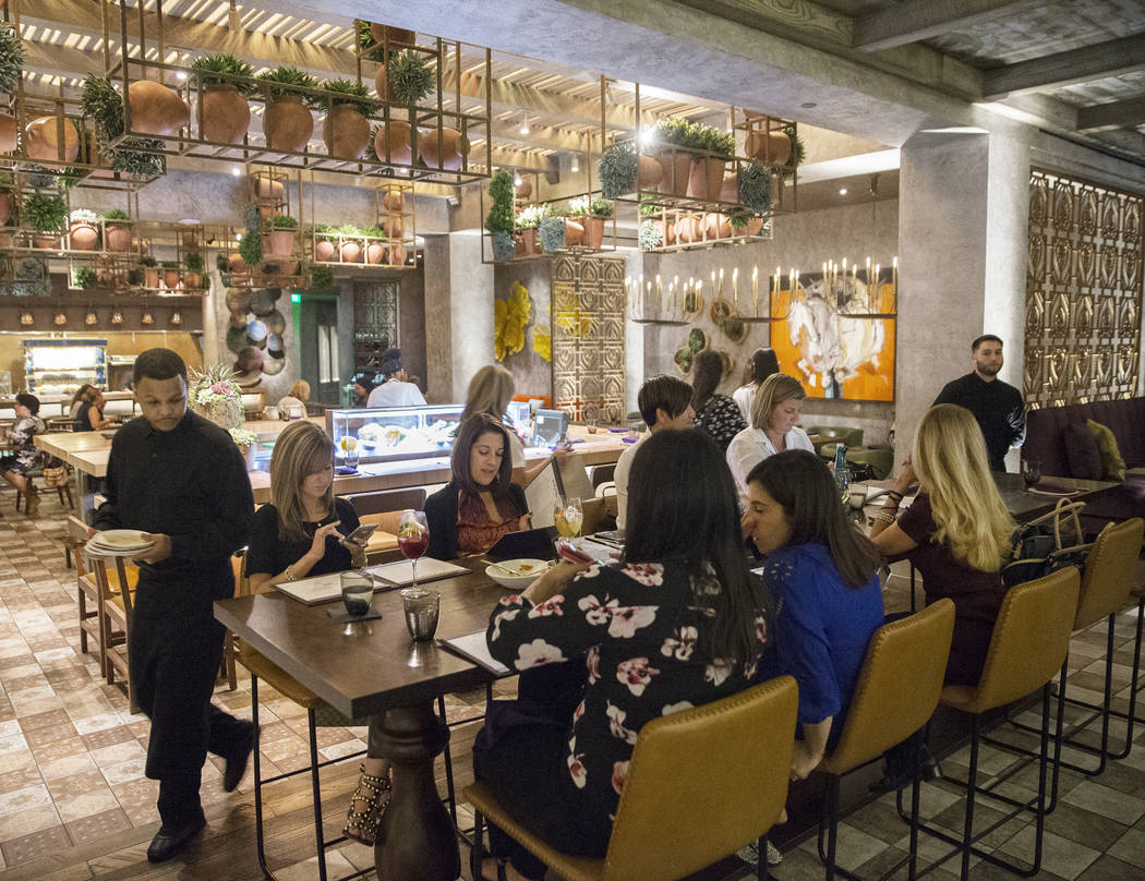 Guests at Chica enjoy their dinner on Wednesday, September 27, 2017, at The Venetian hotel/casino, in Las Vegas. Benjamin Hager Las Vegas Review-Journal @benjaminhphoto