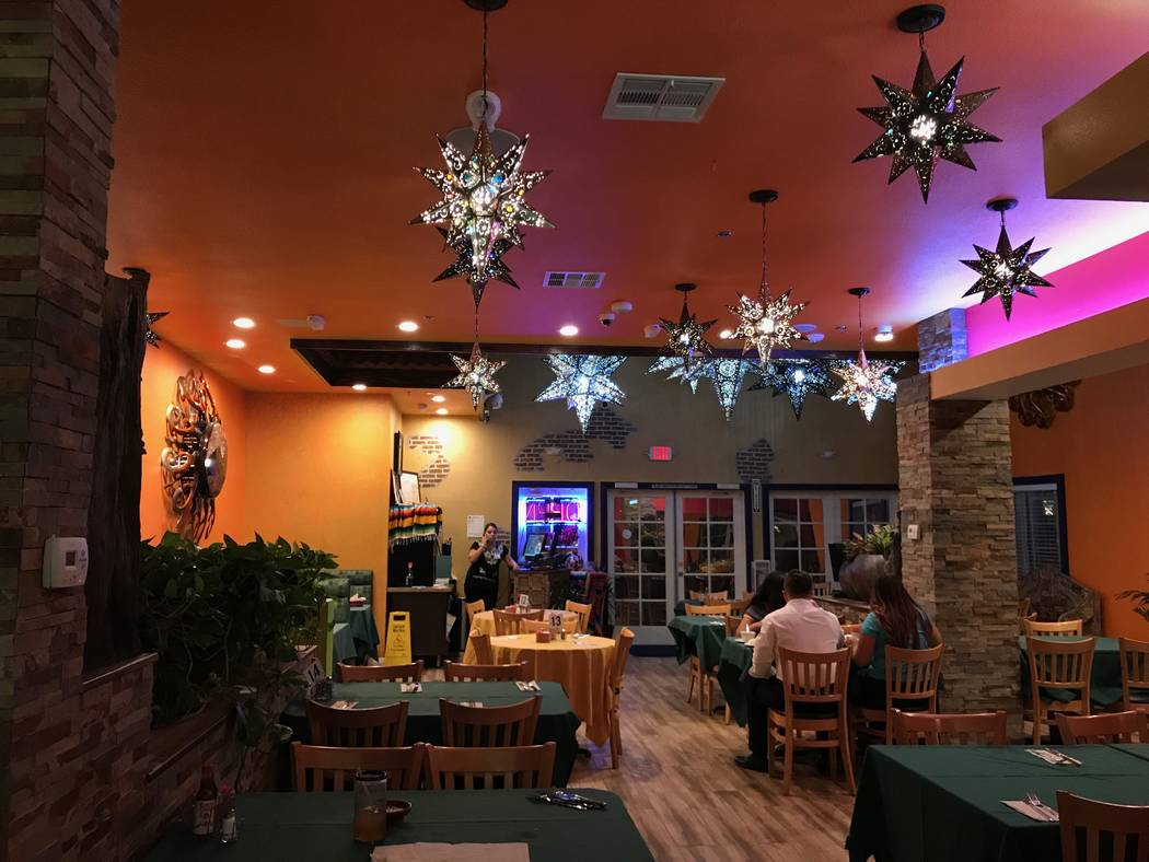 The interior of La Cabaña Mexican Restaurant at 2800 W. Sahara Ave. (Madelyn Reese/View) @MadelynGReese