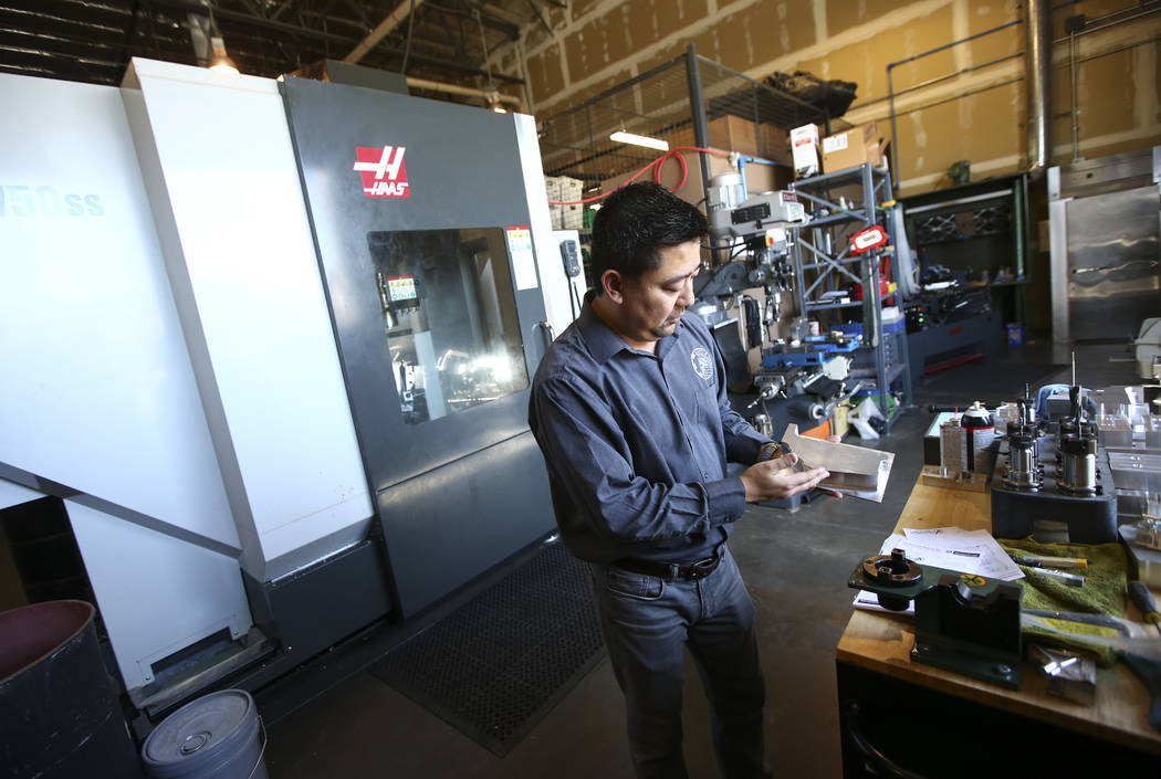 Battle Arms Development President George Huang at the original location for his company at 180 Cassia Way in Henderson on Wednesday, Sept. 20, 2017. The company, which offers firearm parts and cus ...