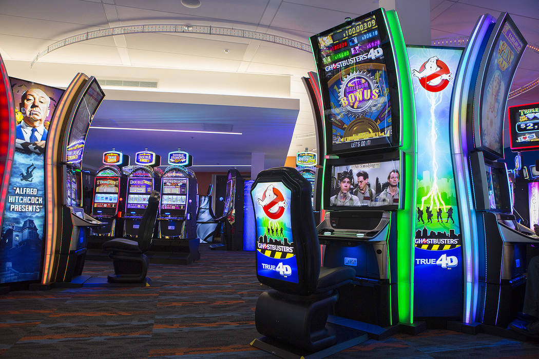 A 4D Ghostbusters game in the showroom at International Game Technology, also referred to as IGT, on Wednesday, Sept. 20, 2017, in Las Vegas. Bridget Bennett Las Vegas Review-Journal @bridgetkbennett