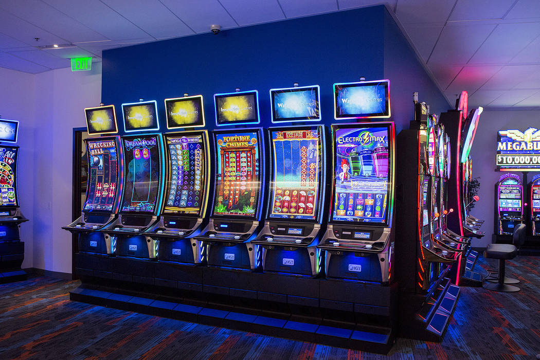A wall of innovation games in the showroom at International Game Technology, also referred to as IGT, on Wednesday, Sept. 20, 2017, in Las Vegas.  Bridget Bennett Las Vegas Review-Journal @bridget ...