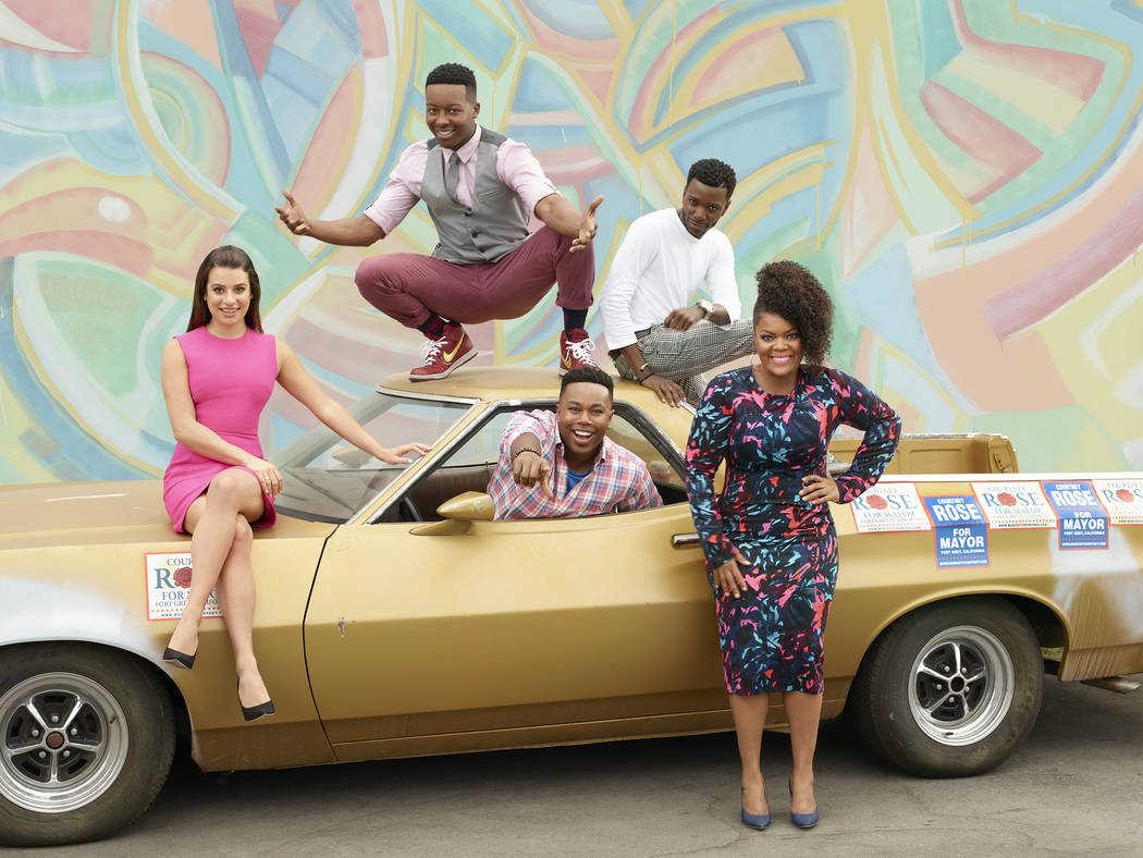 "BC's ""The Mayor"" stars Lea Michele as Valentina Barella, Brandon Micheal Hall as Courtney Rose, Marcel Spears as T.K. Clifton, Bernard David Jones as Jermaine Leforge and Yvette Nicole Brown as Di ..."