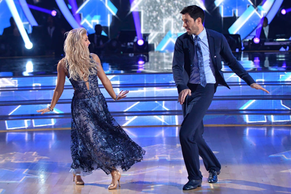 "Last night (Sept. 18), Drew Scott, one-half of the Property Brothers, performed with his partner, Emma Slater, in ""Dancing with the Stars."" (ABC-TV)"