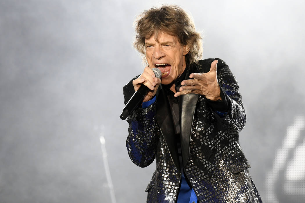 Singer Mick Jagger of the British band 'The Rolling Stones' performs on stage during a concert of their European tour 'Stones - No Filter' in Zurich, Switzerland, Wednesday, Sept. 20. 2017. (Walte ...