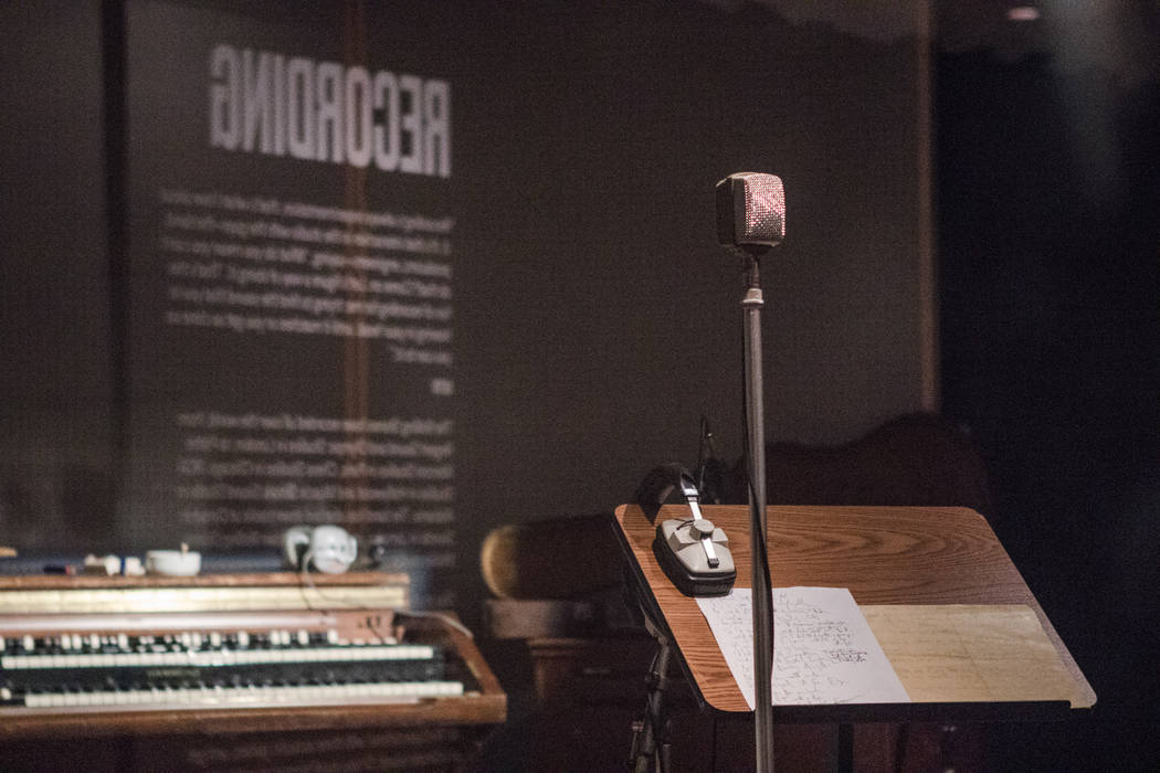 The replica recording studio of the Rolling Stones at the exhibit at the Palazzo hotel-casino on Wednesday, Sept. 20, 2017, in Las Vegas. Morgan Lieberman Las Vegas Review-Journal