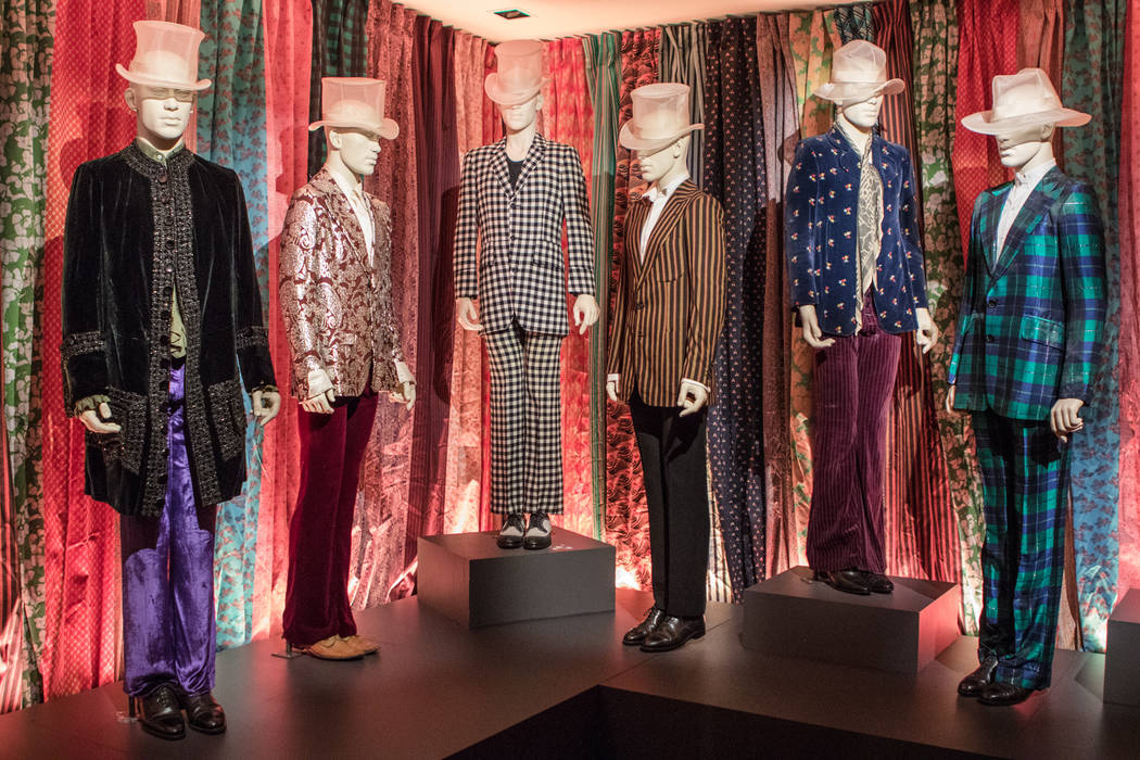 The many outfits of the Rolling Stones at the exhibit at the Palazzo hotel-casino on Wednesday, Sept. 20, 2017, in Las Vegas. Morgan Lieberman Las Vegas Review-Journal