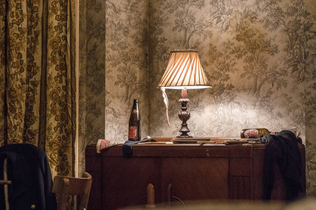 The replica room of the Rolling Stones' first shared loft at the exhibit at the Palazzo hotel-casino on Wednesday, Sept. 20, 2017, in Las Vegas. Morgan Lieberman Las Vegas Review-Journal