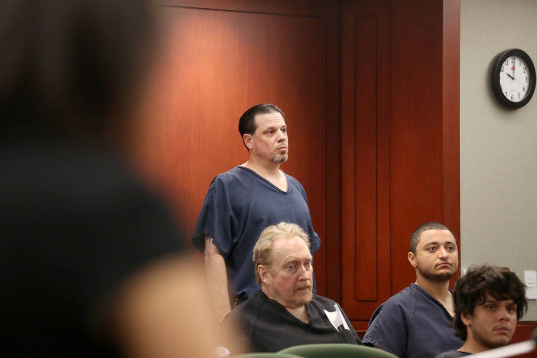 David Dinunzio, who pleaded guilty in June to strangling his mother, receives a life sentence at the Regional Justice Center in Las Vegas on Wednesday, Sept. 20, 2017. Elizabeth Brumley Las Vegas  ...