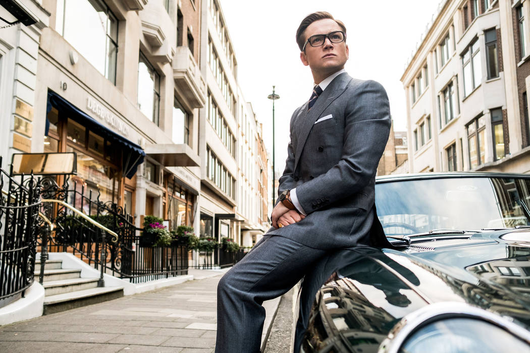 "Taron Egerton stars in Twentieth Century Fox's ""Kingsman: The Golden Circle,"" also starring Colin Firth, Julianne Moore, Channing Tatum, Mark Strong, Elton John, Halle Berry and Jeff Bridges."