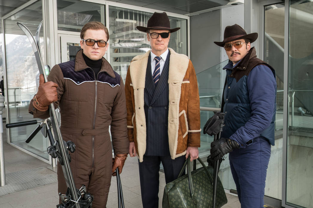 "Taron Egerton, Colin Firth, and Pedro Pascal star in Twentieth Century Fox's ""Kingsman: The Golden Circle,"" also starring Julianne Moore, Channing Tatum, Mark Strong, Elton John, Halle Berry and J ..."